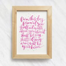 Love Quote Watercolor Lettering Print