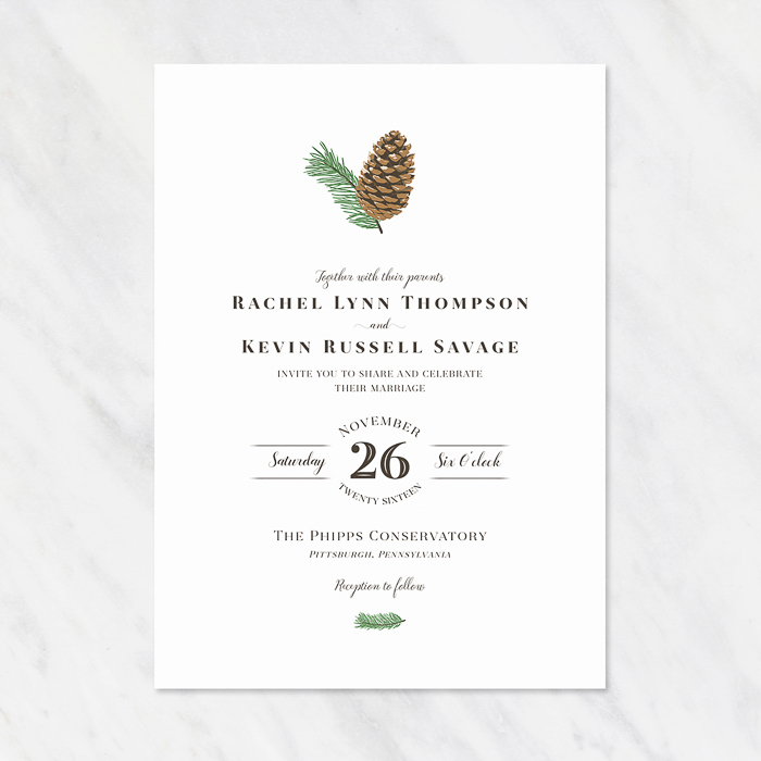 wedding invitations fresh cut prints