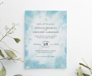 Frosted Invitation