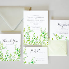 wedding invitation with botanical branches