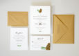 wedding suite with woodland pinecone
