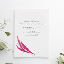 Bold Brush Stroke Wedding Invitation