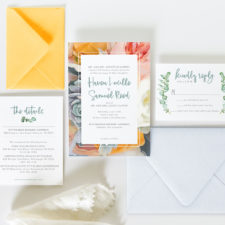 Bright Floral Wedding Invites