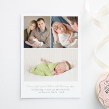 Birth Announcement Christmas Cards