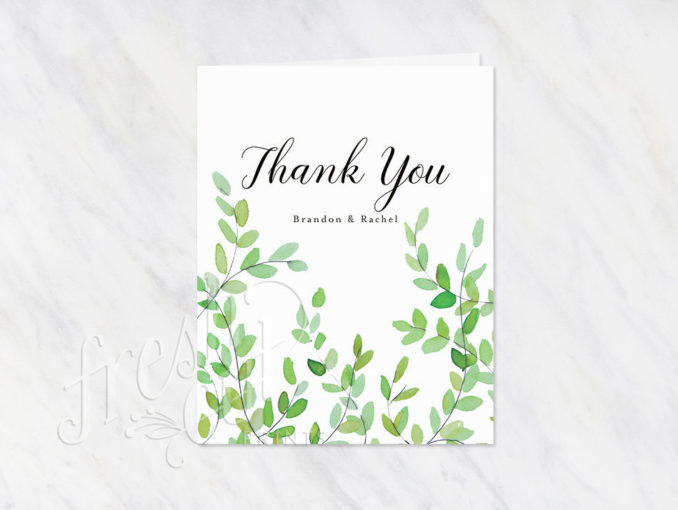 Botanical Branches Thank You Notes