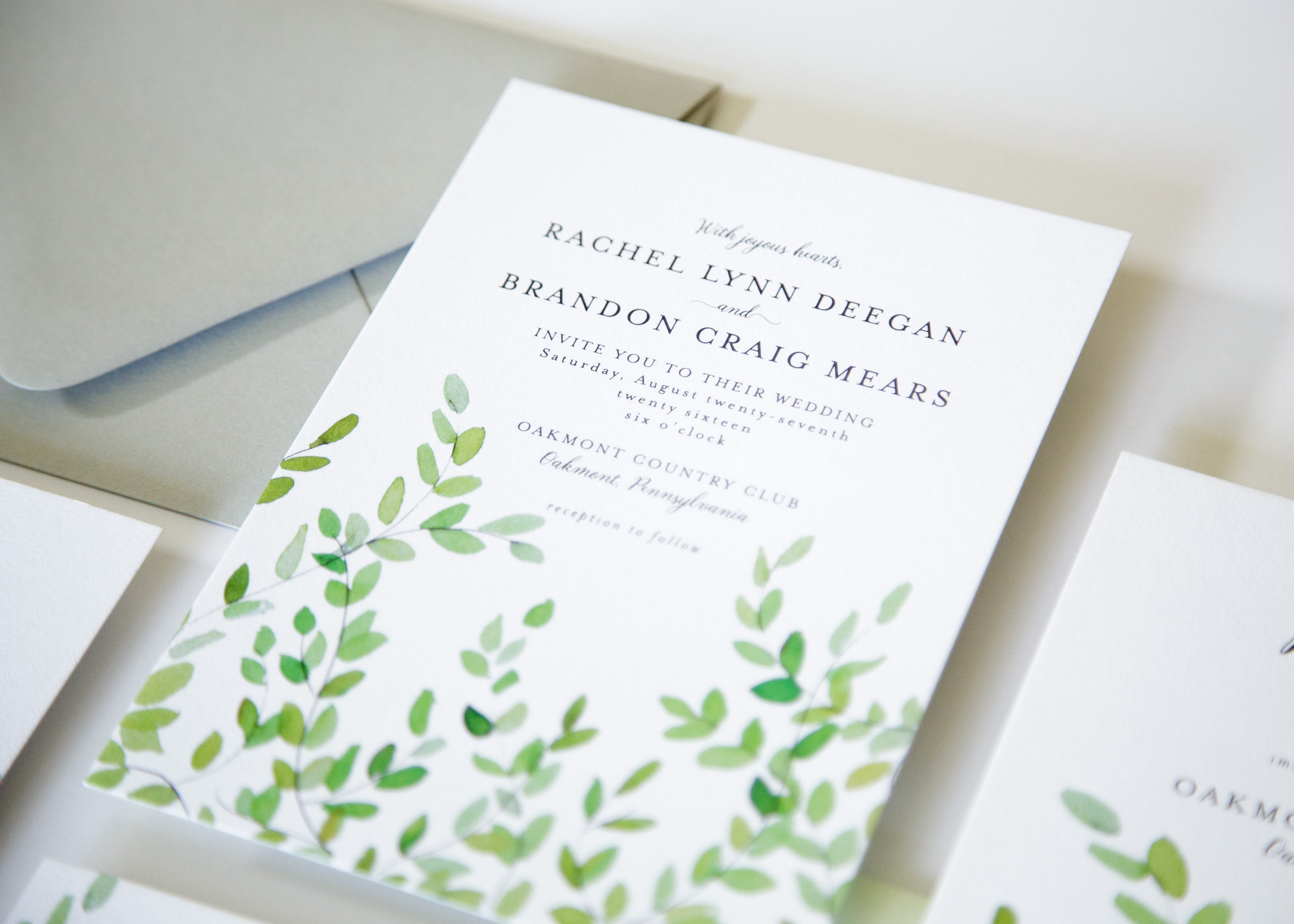 Botanical Wedding Invites – Fresh Cut Prints