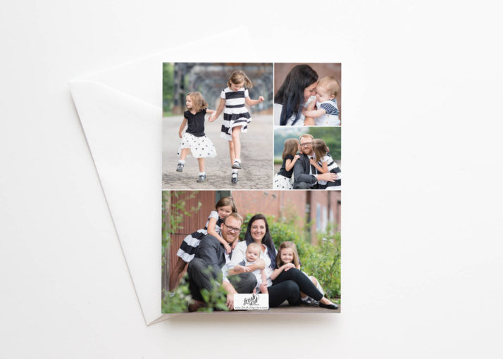Newlywed Holiday Card with Multiple Photos