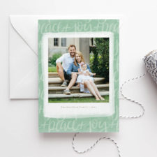 Peace and Joy Photo Christmas Cards 2017
