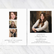Printed Graduation Announcement Cards with Three Photos