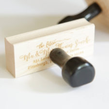 Round Return Address Stamp