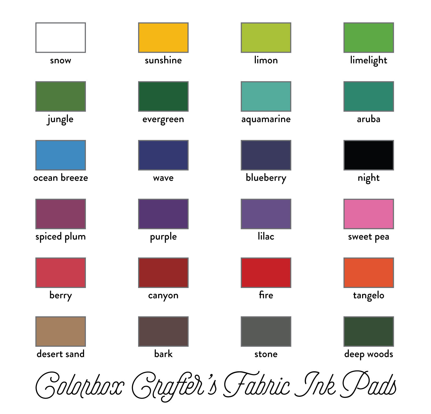 Colorbox Crafters Fabric Ink Pads