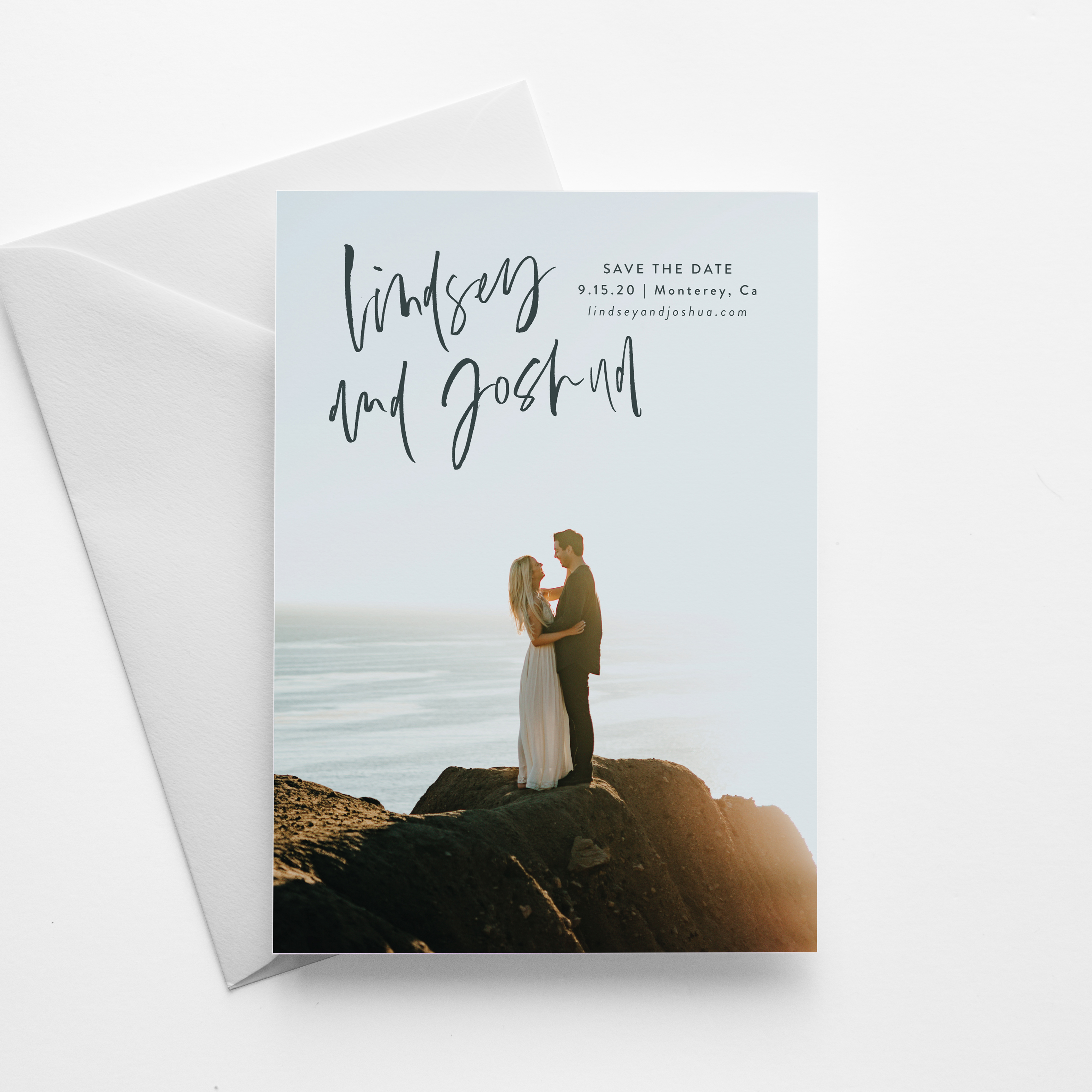 brush lettering save the date