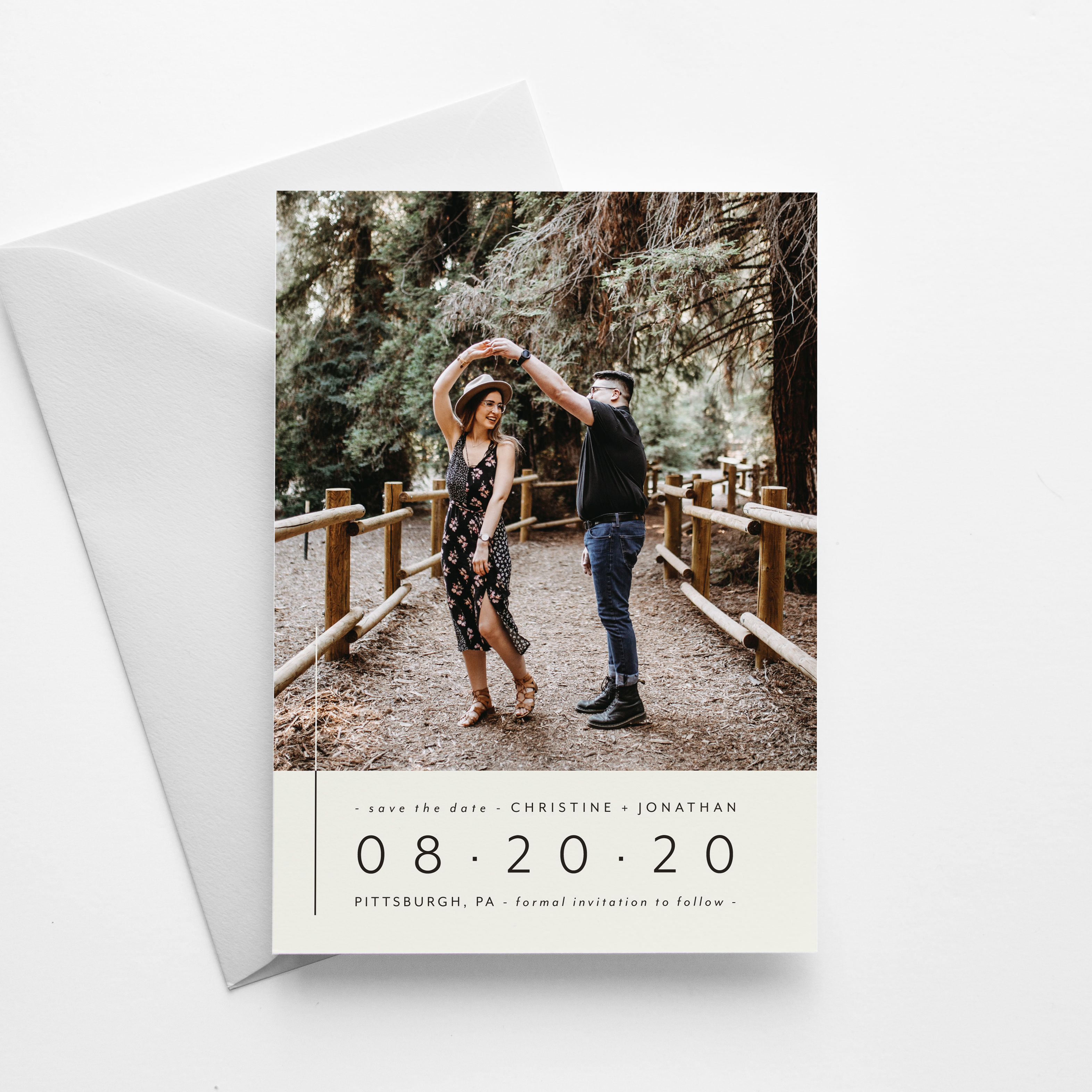modern save-the-date