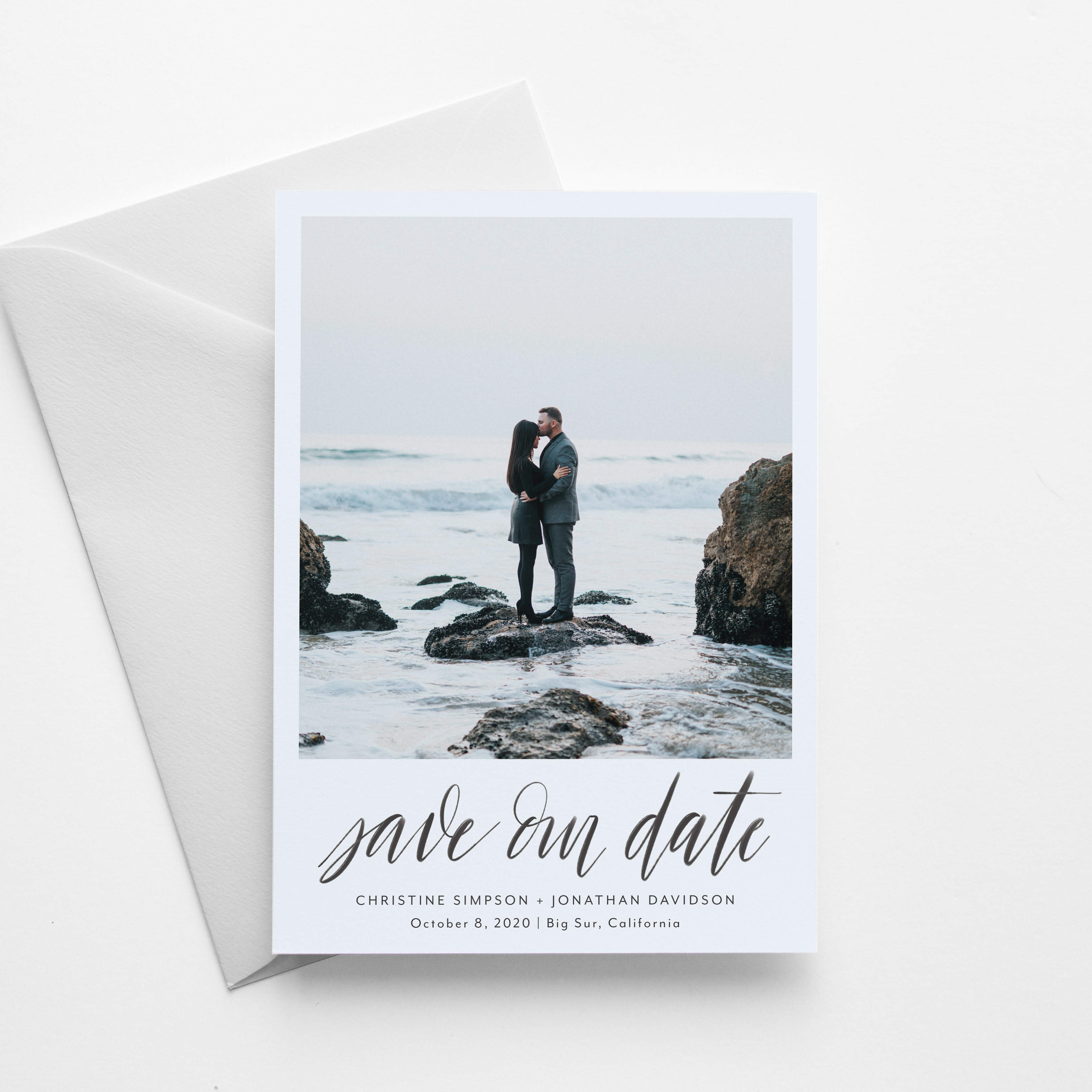 hand-lettered save-the-date